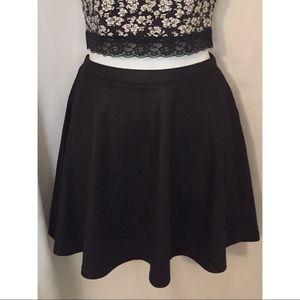NWT Forever 21 Black Skater Skirt